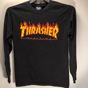 Other - Boys black Thrasher shirt